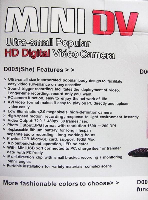 HD photo resolutional portable mini DV + GIFT 4GB MEMORY