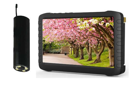 Wireless Borescope Camera + 2.4GHz wireless camera Mini HD DVR receiver monitor