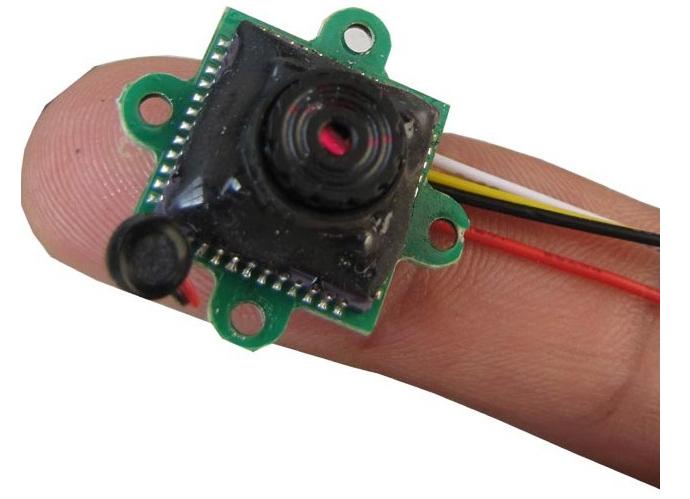 Mini 520TVL CCTV SPY Security Audio Camera 0.008Lux