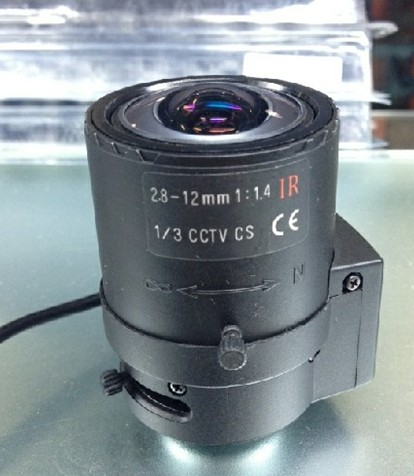 2.8-12mm Automatic Aperture CS Zoom Lens For CCTV Camera