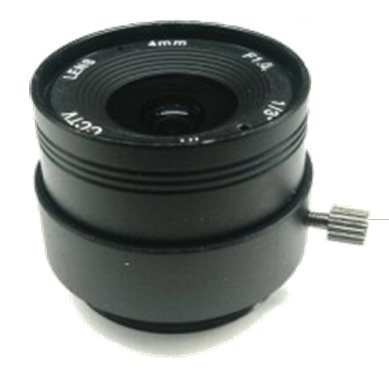 Replacement CCTV Camera F1.4 Aperture 4mm Fixed Lens