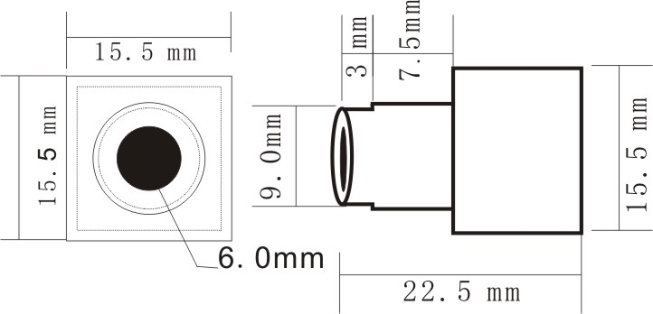 0.5MM F1.2 90deg VOA 16 CHS 0.008Lux 5.8G Mini Wireless Camera